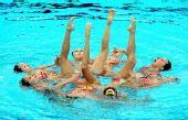 图文:花游集体自选赛中国队摘铜 花朵盛放