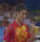 图文:王励勤赢得铜牌之争 中国再次包揽前三