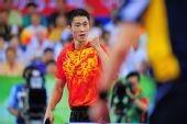图文:奥运乒乓男单铜牌战 王励勤赢得铜牌