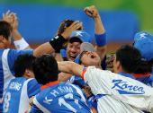 图文:棒球韩国夺冠 韩国队以3比2战胜古巴队