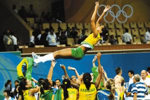 巴西队球员庆祝胜利