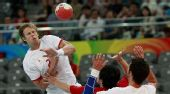 图文:男子手球7-8名排名赛丹麦胜韩国 萨鲁普