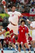 图文:男子手球7-8名排名赛丹麦胜韩 耶斯佩尔