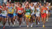 图文:男子马拉松比赛 中国李柱宏获得第51名