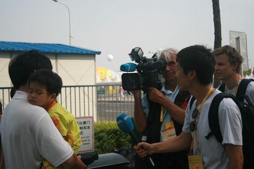 境外媒体采访