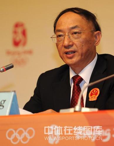 图文:中国军团新闻发布会 团长刘鹏
