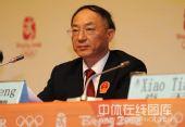图文:中国军团新闻发布会 刘鹏在发布会上