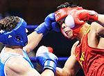 组图:男子拳击91kg以上级 张志磊获得银牌