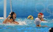 图文:男子水球匈牙利夺冠 庆祝得分
