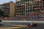 图文:[F1]欧洲大奖赛正赛 汉密尔顿在比赛中