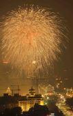 图文:火树银花不夜天 焰火在北京上空绽放