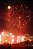 图文:火树银花不夜天 天安门广场上空焰火绽放