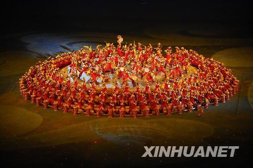 """8月24日晚,第29届夏季奥林匹克运动会闭幕式在北京国家体育场——""""鸟巢""""举行。 新华社记者郭大岳摄"""
