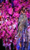 """图文:奥运会闭幕式:""""伦敦8分钟""""歌手碧昂丝"""