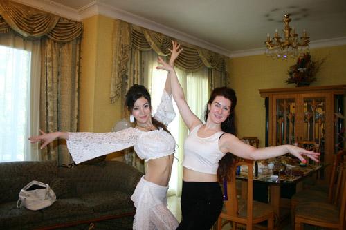 女人 小薇/小薇老师在埃及,与俄罗斯肚皮舞老师一起...