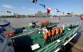 图文:浙江海警完成奥帆赛安保任务 舰艇上列队