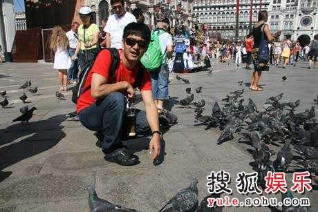 郭晓冬在圣马可广场