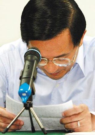陈水扁昨天发出新闻稿声明没有贪污。(台湾《联合报》资料图)