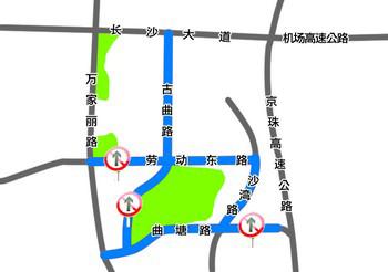 体育新城周边路段交通管制