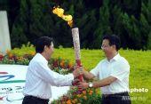 组图:残奥会时代风采线火炬在深圳点燃