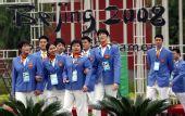 图文:北京残奥村正式开村 中国运动员进村