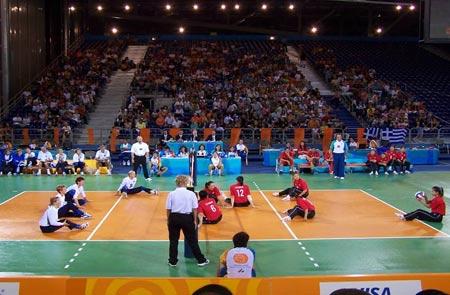 坐式排球比赛的场地 器材 设施