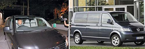 谢霆锋接载张柏芝及儿子的大块头保姆车