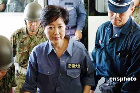 资料图片:日本首位女性防卫相小池百合子。 中新社发 朱沿华 摄