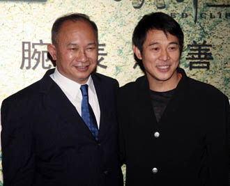 早前在《赤壁》慈善首映上吴宇森与李连杰合影