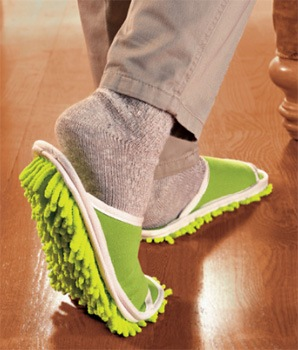 擦拭地板的拖鞋