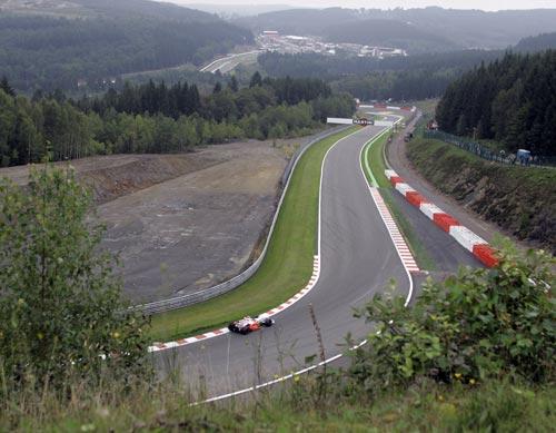 图文:F1比利时站第一次练习 斯帕赛道一隅