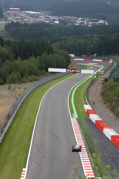 图文:F1比利时站第二次练习 斯帕赛道一角