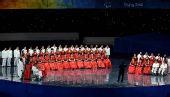 图文:残奥会开幕式前的文艺表演 残疾人艺术团