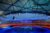 图文:残奥会开幕式前的文艺表演 现场壮观场景