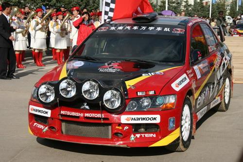 图文:全国汽车拉力赛漠河站 辛吉斯的赛车