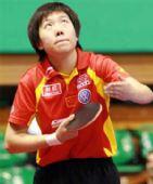 图文:女乒世界杯李晓霞夺冠 李晓霞准备发球