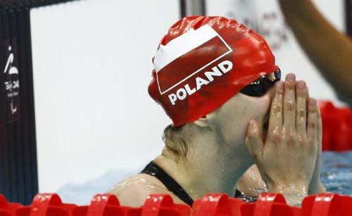 波兰选手卡塔日娜·帕夫利克在比赛结束后喜不自胜