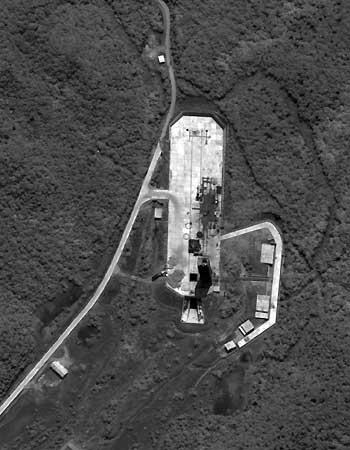 美媒刊出的据称是朝鲜第二个远程导弹基地的图片