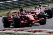 图文:F1意大利站第二次练习 马萨领先对手