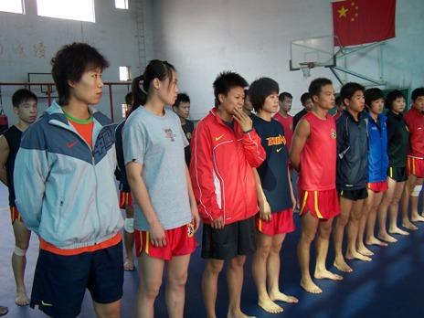 图文:世界杯武术散打比赛将开幕 中国散打队