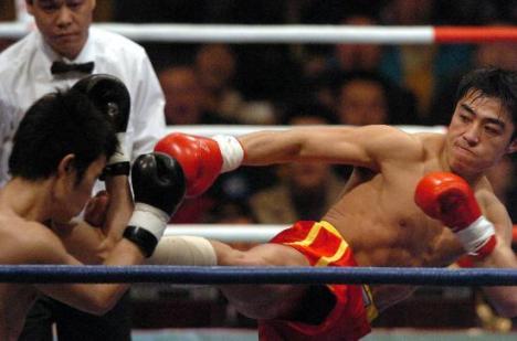 第4届世界杯武术选手张勇 在比赛场上
