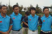 图文:青岛公开赛颁奖仪式 国家队队员