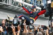 图文:F1意大利大奖赛正赛 维特尔的特殊待遇
