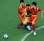 图文:[五人制足球]中国获得牌 郑文发防守