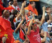 图文:[五人制足球]中国获得牌 球迷呐喊助威