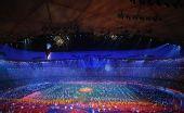 图文:北京残奥会闭幕式 上主火炬渐渐熄灭