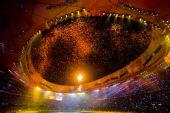 图文:北京残奥会胜利闭幕 红叶从顶端缓缓飘落
