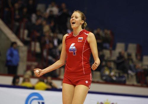 图文:德国女排3 0俄罗斯