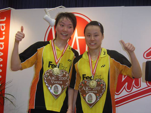 成淑/赵芸蕾获2007年奥地利公开赛女双冠军