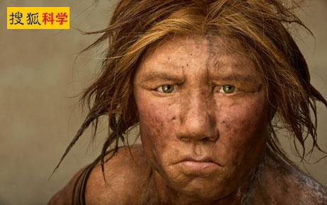 采用DNA数据复原而成的首张穴居人面孔